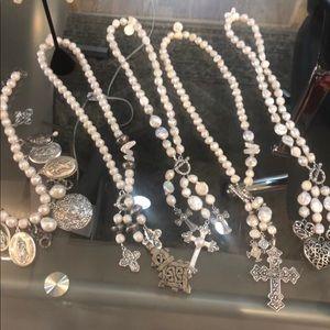 Vintage pearl necklaces